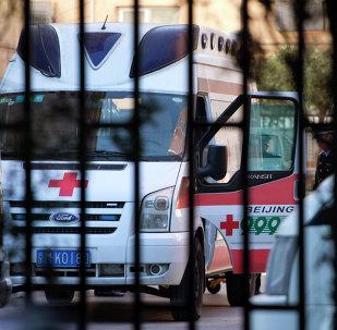 Una ambulancia china (archivo)