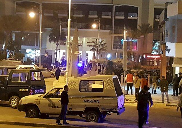 Hotel Bella Vista en el balneario egipcio de Hurgada, donde tuvo lugar el ataque terrorista