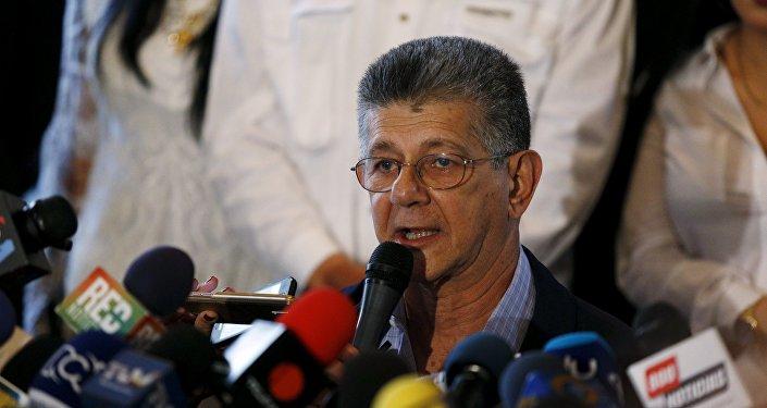 Henry Ramos Allup,  secretario general del partido opositor Acción Democrática (AD)