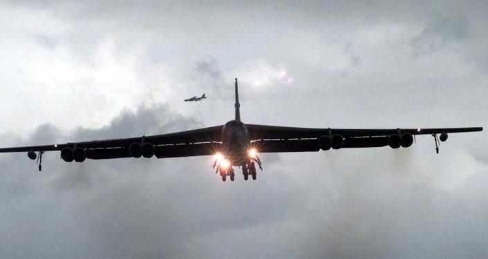 Los bombarderos subsónicos estadounidenses B-52
