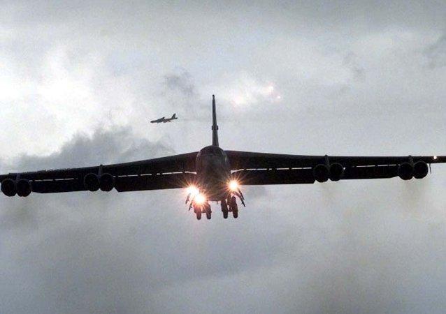 El bombardero estratégico B-52 de las Fuerzas Aéreas de EEUU