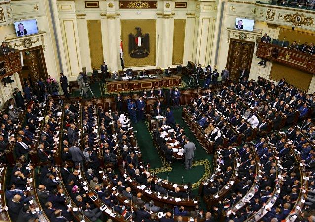 El parlamento de Egipto (archivo)