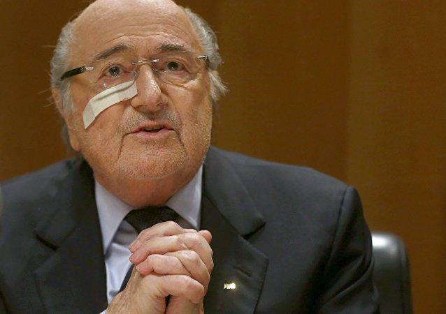 Expresidente de la FIFA, Joseph Blatter