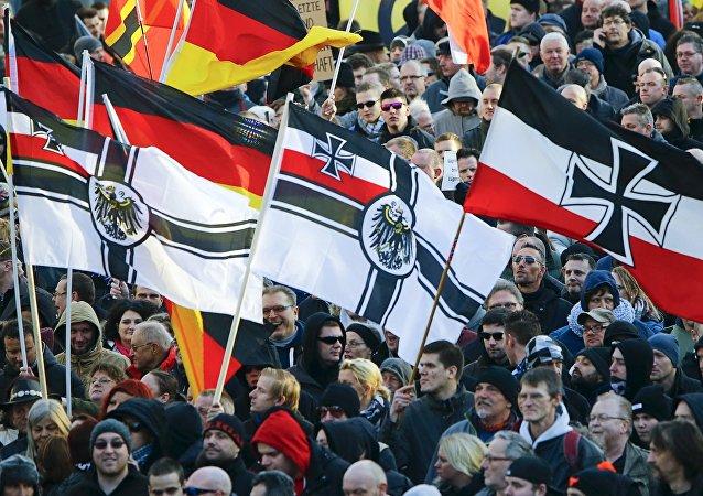 Manifestación de PEGIDA en Colonia, Alemania