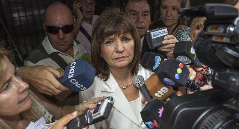 Patricia Bullrich, ministra de Seguridad de Argentina