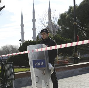 El lugar del atentado en el centro de Estambul
