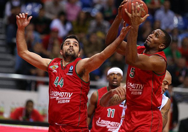 Jugadores del club de baloncesto Lokomotiv Kuban