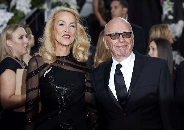 Jerry Hall y Rupert Murdoch
