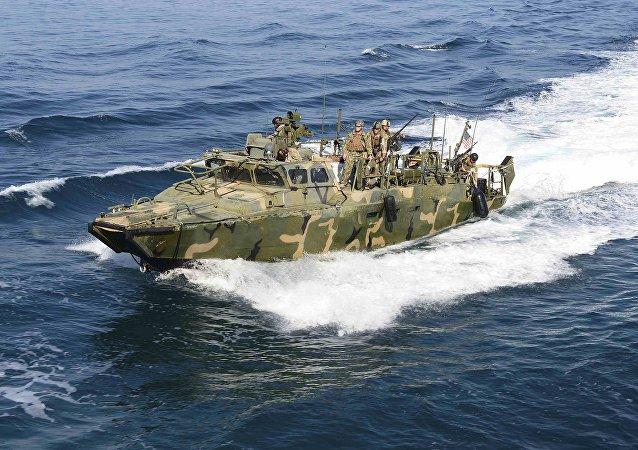 Embarcación estadounidense capturada por Irán (Archivo)