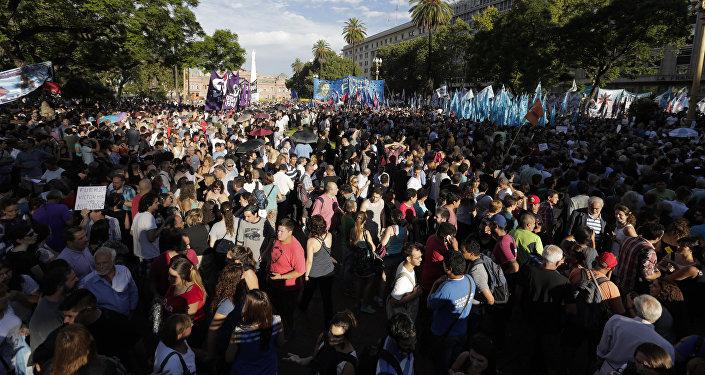 Manifestación  en  Buenos Aires (archivo)