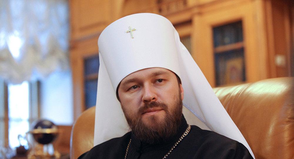 El jefe del Departamento de Vínculos Eclesiásticos Exteriores del Patriarcado de Moscú, metropolita Ilarión
