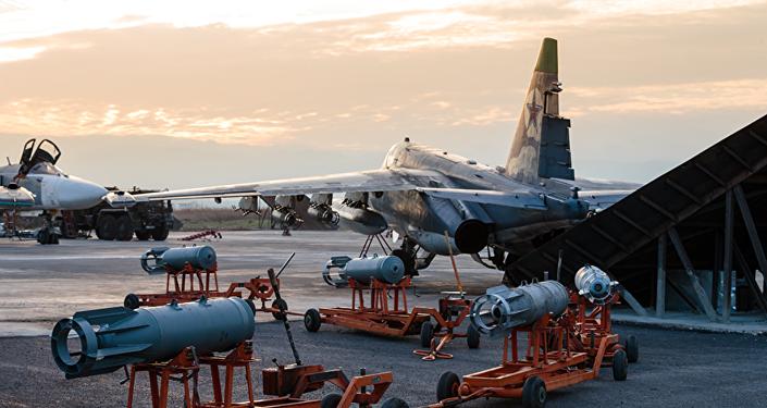 Fuerzas Aeroespacial de Rusia en la base siria Hmeimim