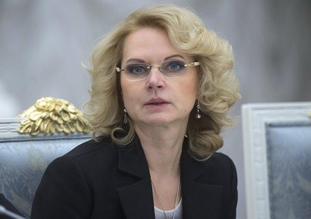 Tatiana Gólikova, presidenta de la Cámara de Cuentas de Rusia