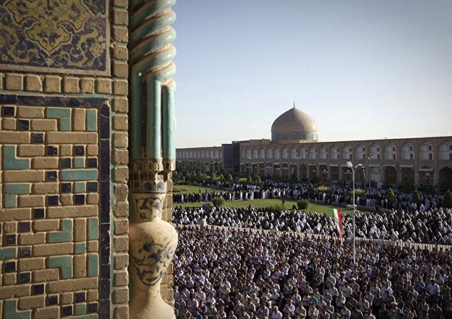Plaza Naghsh-i Jahan en la ciudad iraní de Isfahán
