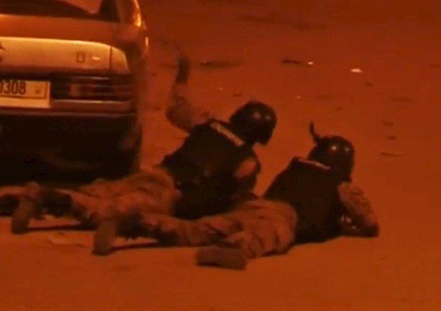 Fuerzas policiales en Uagadugú, Burkina Faso (archivo)