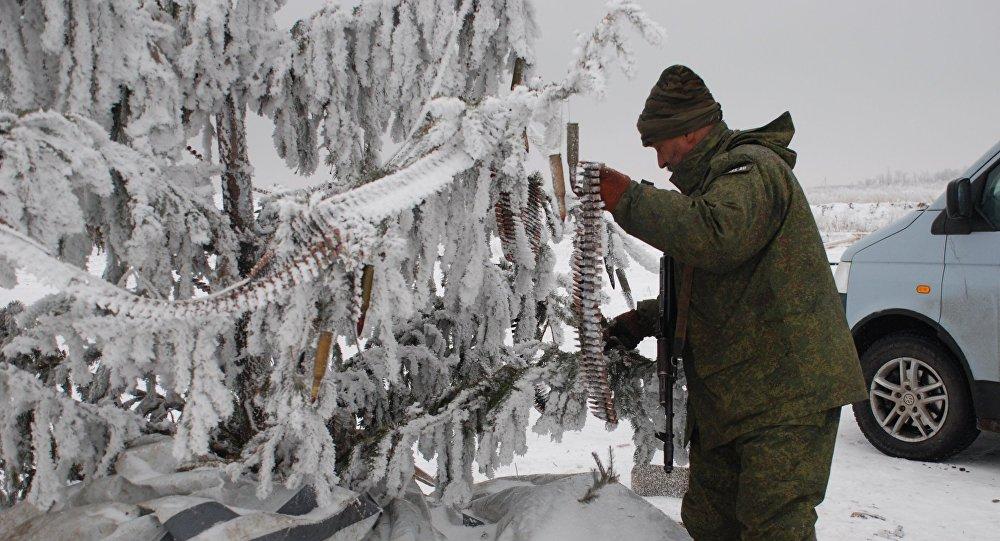El árbol de Navidad en Donbás