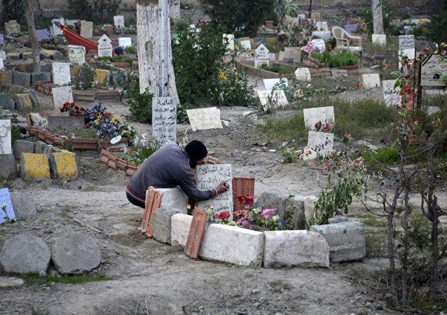 Cementerio en la ciudad siria de Deir Ezzor