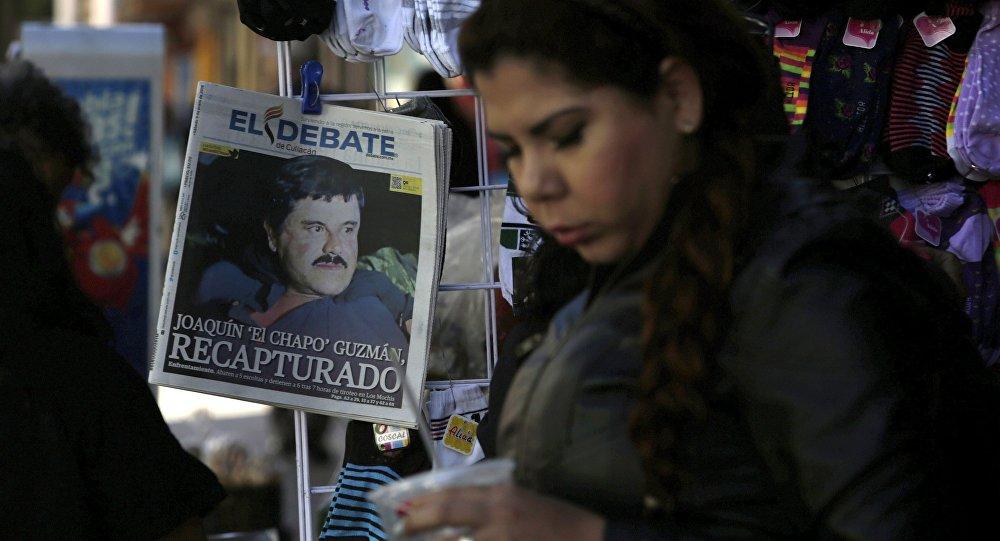 Portada de un periódico tras recaptura de Joaquín el 'Chapo' Guzman en México