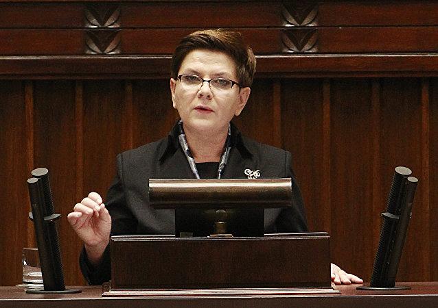 Beata Szydlo, primer ministra de Polonia