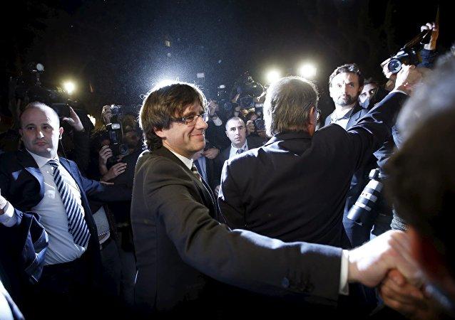 El presidente de Cataluña Carles Puigdemont