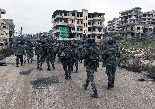 Ejército siro en Salma