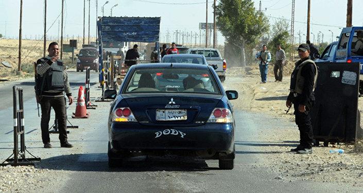 Policía egipcia en la península de Sinaí (archivo)
