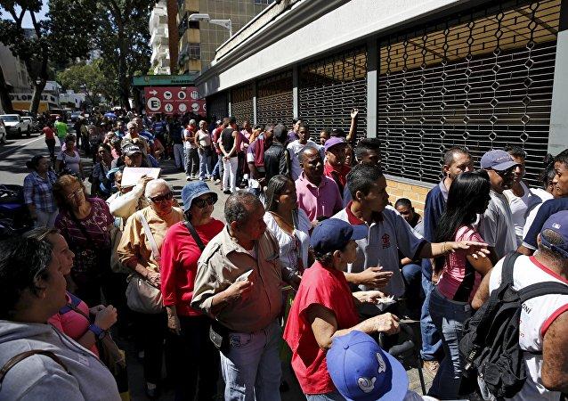 Escasez de alimentos en Caracas, la capital de Venezuela