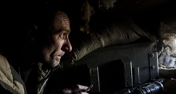 Francotirador en el este de Ucrania