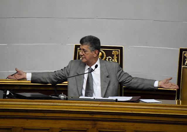 Henry Ramos, presidente de la Asamblea Nacional de Venezuela