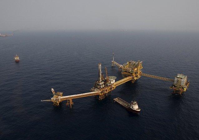 Plataforma petrolera en México