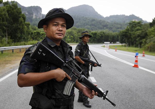 Policía de Malasia (imagen referencial)