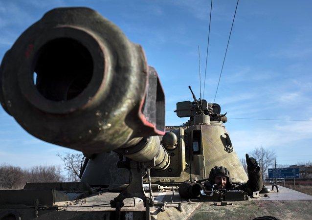 Artillería ucraniana en Donbás (archivo)