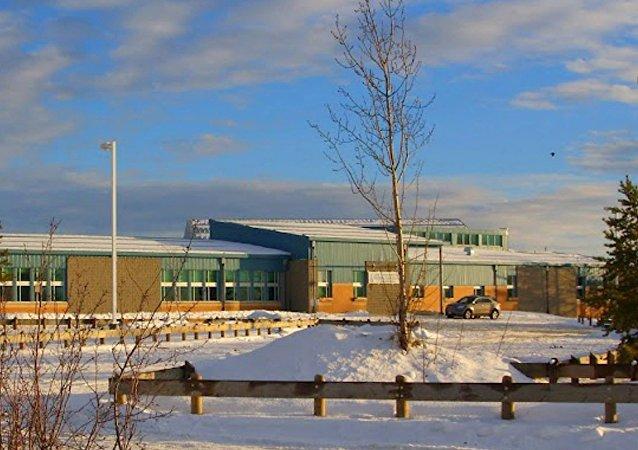 Escuela canadiense de La Loche en la que hubo tiroteo el 22 de enero de 2016