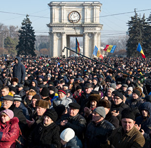 Manifestaciones antigubernamentales en Chisinau, Moldavia