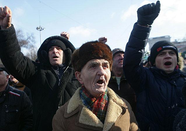 Protesta antigubernamental en Chisinau, Moldavia