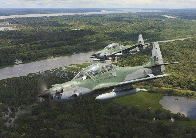 Aeronaves Super Tucano de la Fuerza Aérea de Brasil