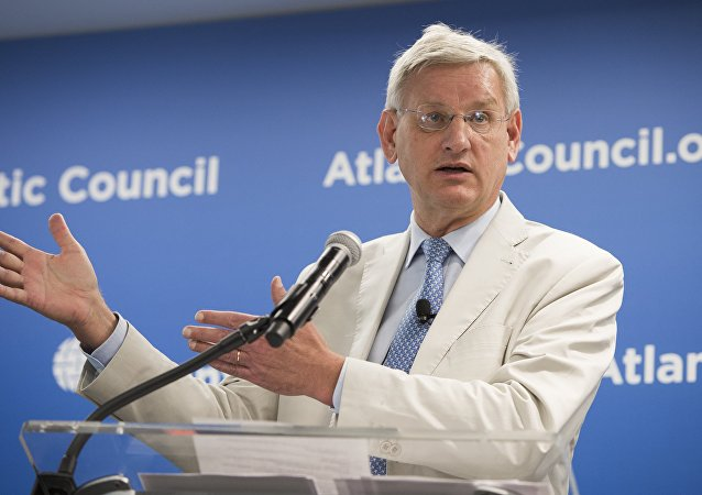 Carl Bildt, ex primer ministro y exministro de Exteriores de Suecia