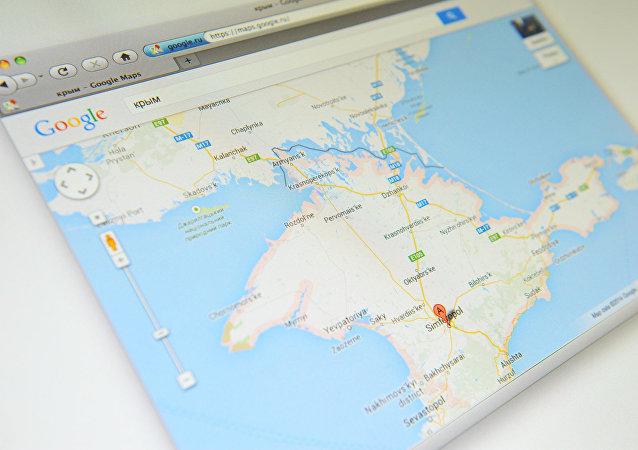 Crimea en el mapa de Google