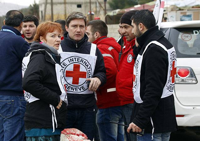 La entrega de ayuda humanitaria en Siria (archivo)