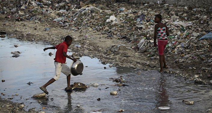 Los niños en Haití