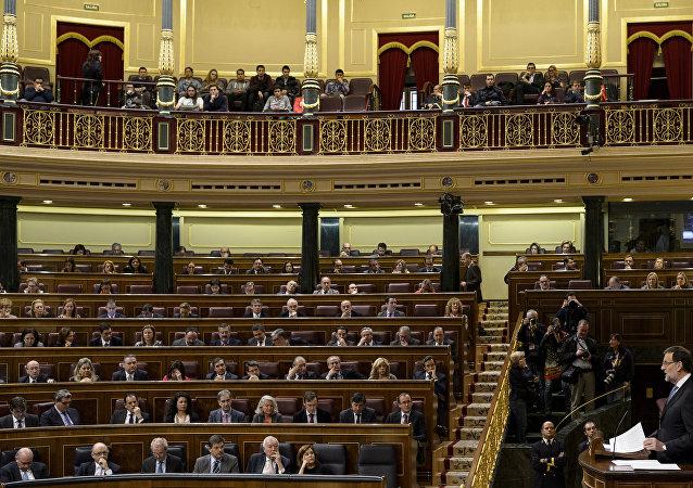 La cámara baja del parlamento español, Madrid.