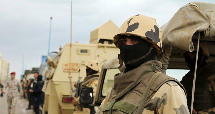 Un soldado del Ejército de Egipto (archivo)
