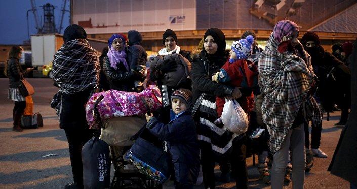 Refugiados e inmigrantes llegan a la UE (archivo)