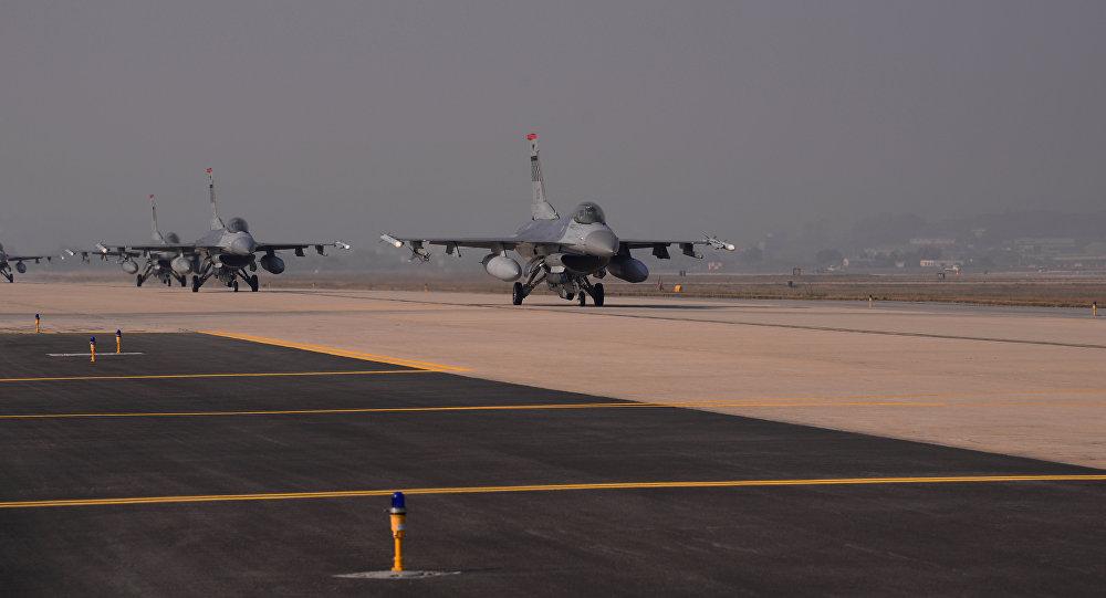 Cazas F-16 estadounidenses