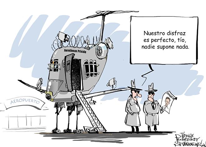 """""""Señor Snowden, proceda a su avión de Aerolíneas Prisión, por favor"""""""