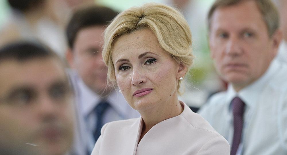 Irina Yarovaya, la presidenta del comité de seguridad y lucha contra la corrupción de la Duma