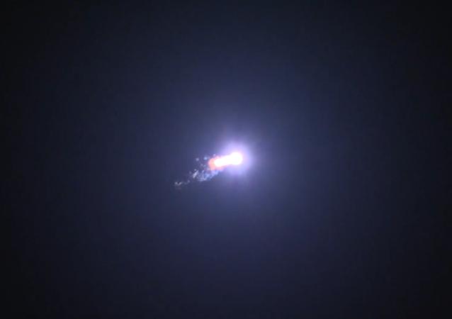 El lanzamiento del cohete portador Protón-M con el satélite Eutelsat 9B
