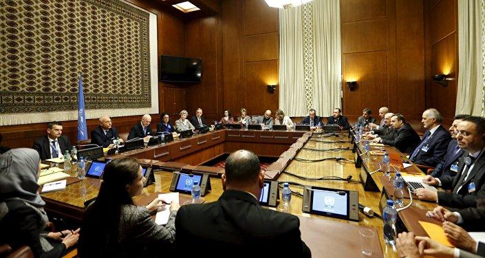 Consultas sobre Siria en Ginebra, Suiza (archivo)