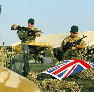 Soldados del ejército de Reino Unido