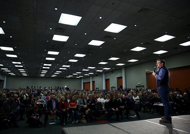 El precandidato presidencial en EEUU, Ted Cruz